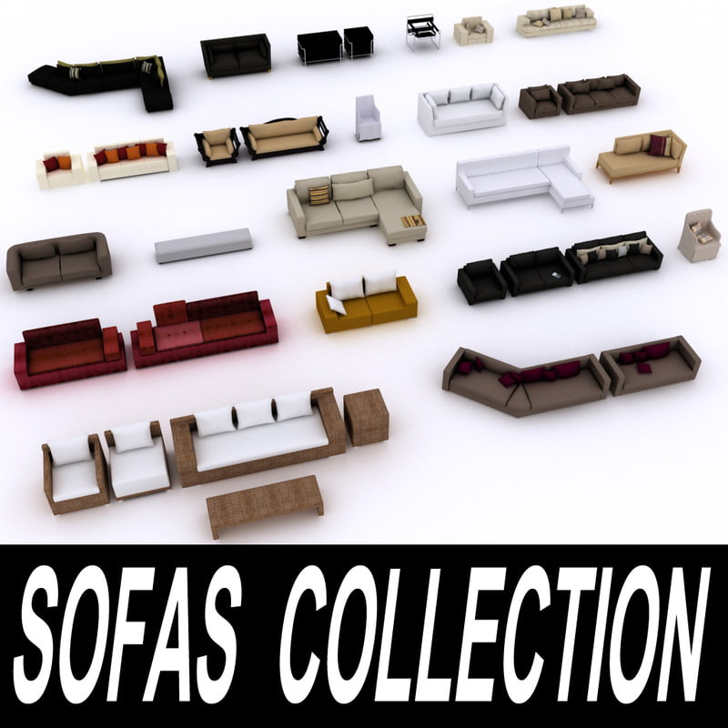 sofas furniture 3d model