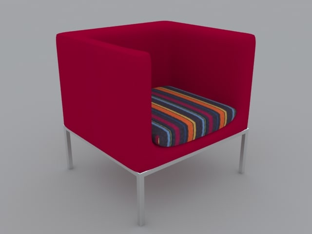 square chair 3d max