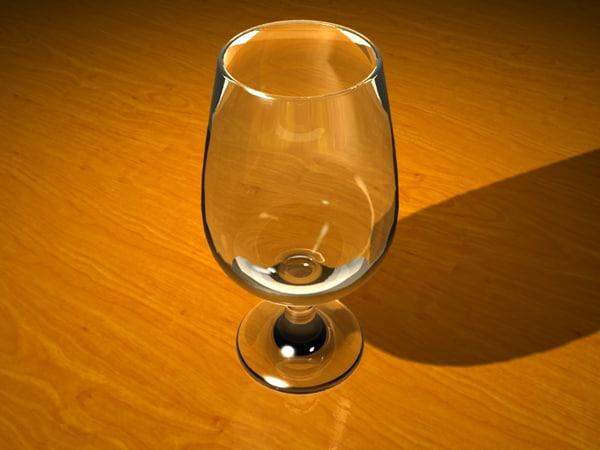 stemmed beer glass 3ds