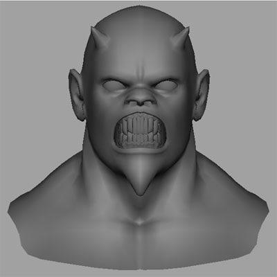 3d demons head