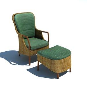 vincent chair 3d model