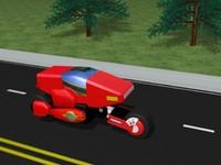 3d bike futuristic sci-fi