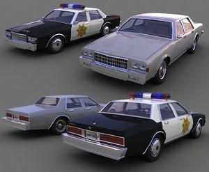 3d model chevrolet caprice versions cars
