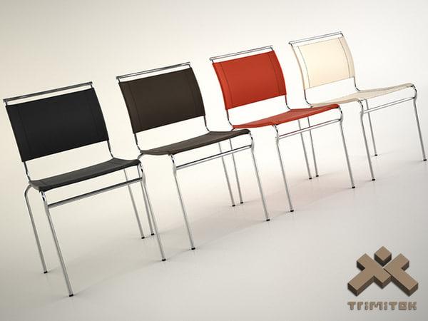 3d model calligaris air lh metal chair
