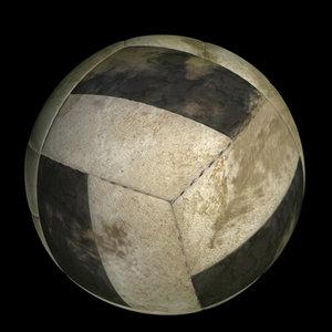 3d model beach soccer ball