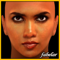3d model head halle berry