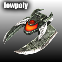 Low poly enemy spaceship