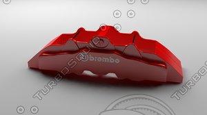 brembo caliper 3d 3ds