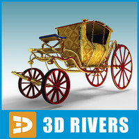 3d circus carriage model