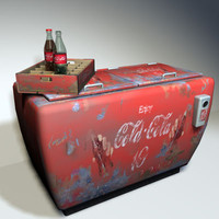 cola cooler retro 01 obj