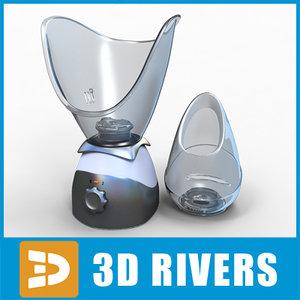 3d facial sauna model