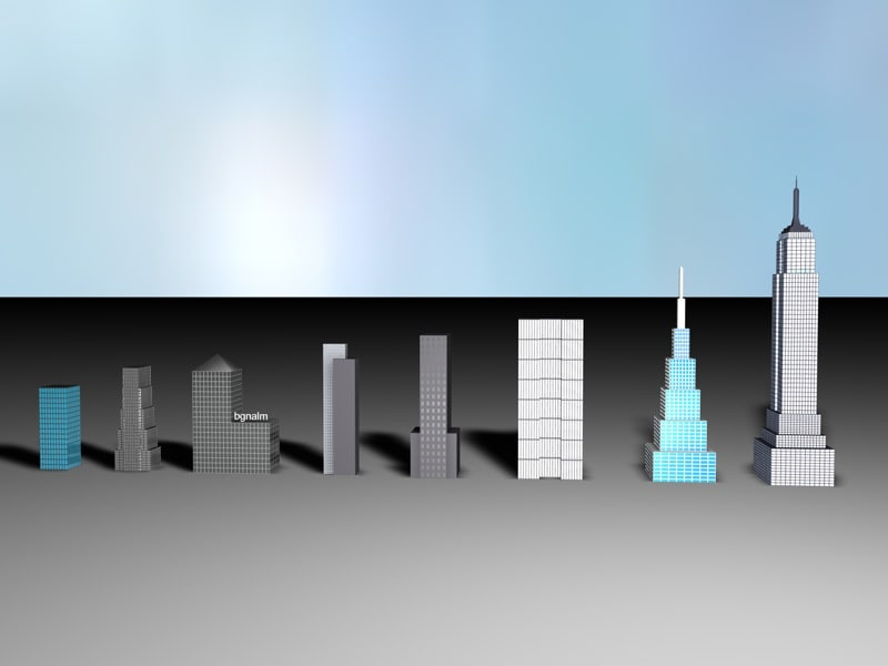 skyscrapers 3d model