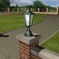 3d garden coachlight