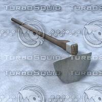 3d hoe tool model