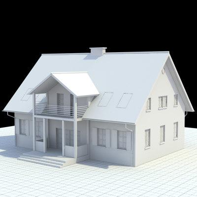 single family 3d model