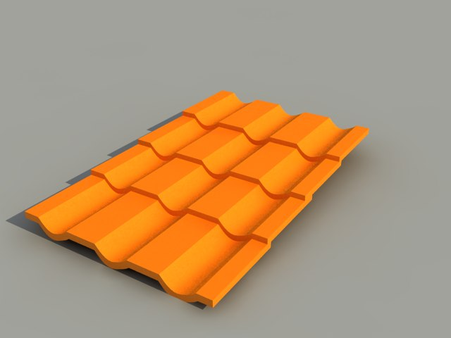free roof tile rooftile 3d model