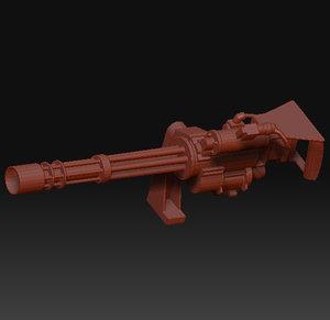 obj m134 minigun gun