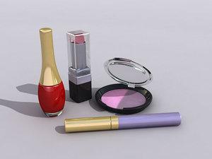 3d model of makeup cosmetics