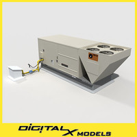 rooftop hvac cooler 5 3d 3ds