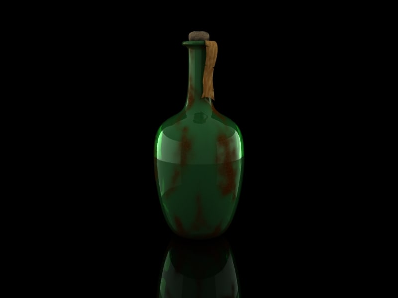 old bottle 3d 3ds