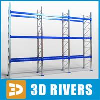 3ds max rack warehouses supermarket