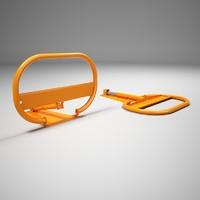 automatic parking spot saver 3d model