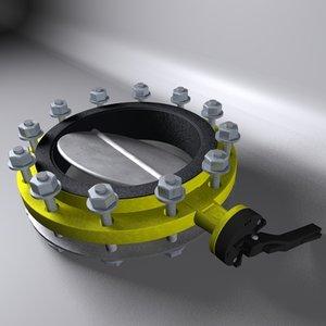 cinema4d butterfly valve