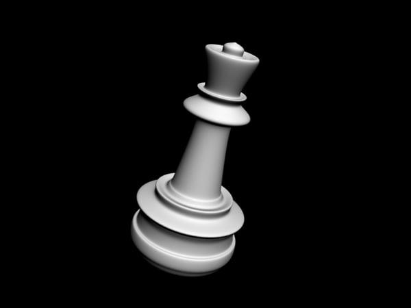 3d model chess queen