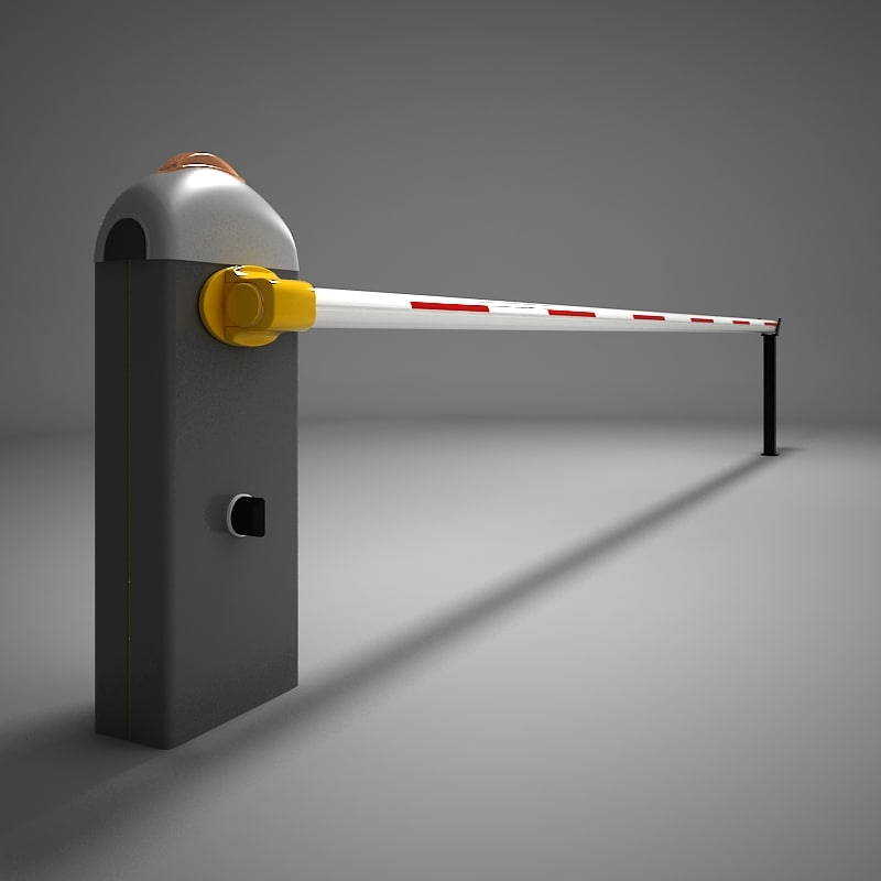 automatic road barrier 3d model