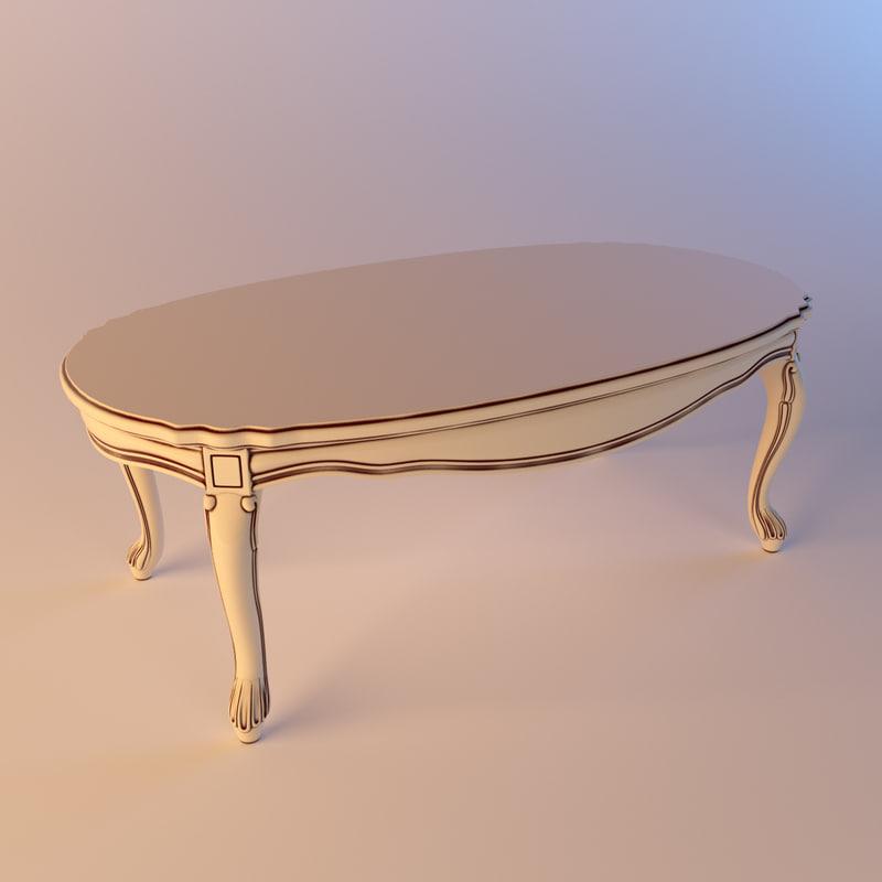 3d serafino marelli small table