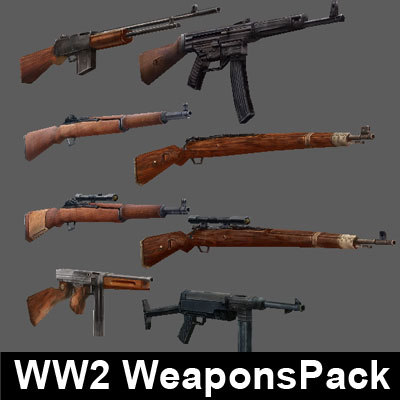 ww2 weapons pack max