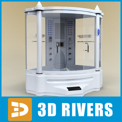 3d steam shower