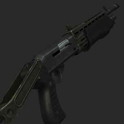 spas12 shotgun rendering max