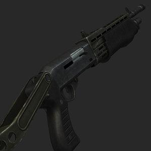 spas12 shotgun rendering max