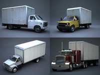 3d transport vehicle delivery truck model