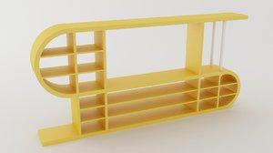 free wall unit shelving 3d model
