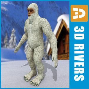 yeti abominable snowman 3d max