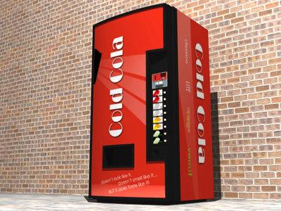 cold cola machine 3d max