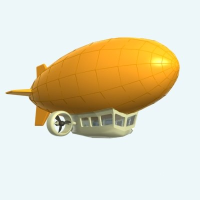 3d zeppelin airship model