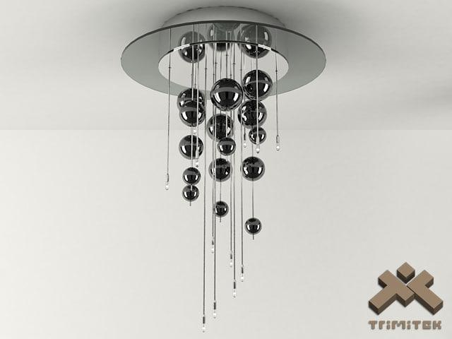 bubbles 12plp lamp 3d model