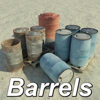studios barrels 3d max