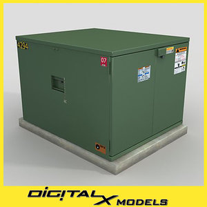 3d model of electrical box 3