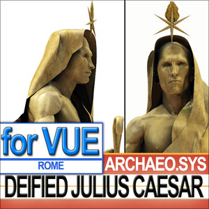 gilded statue deified julius 3d 3ds