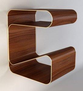 free gubi bedside table 3d model