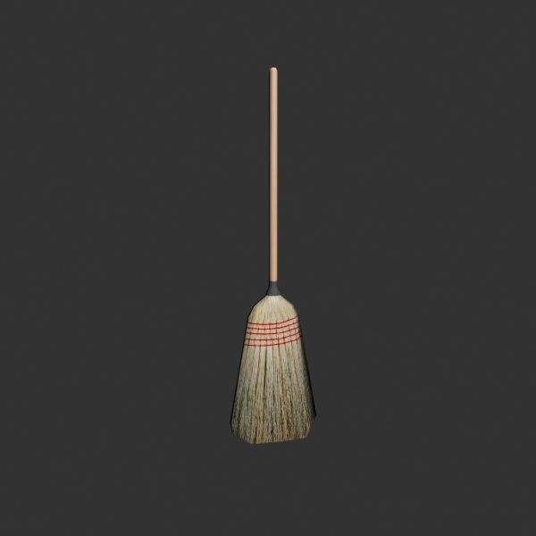 3d broom prop video model