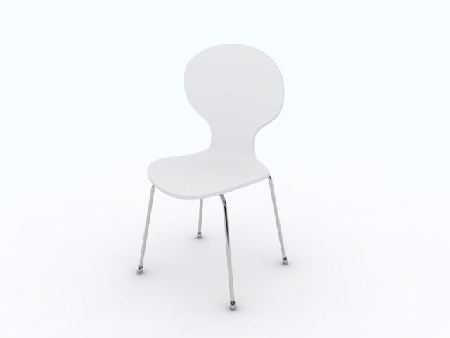 3dsmax bunny dining chair