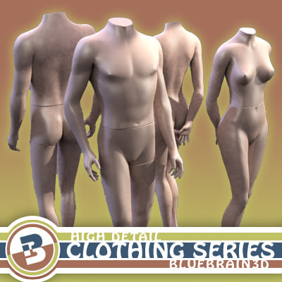 3dsmax mannequins clothing