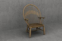3d 3ds wegner peacock pp550 chair designer