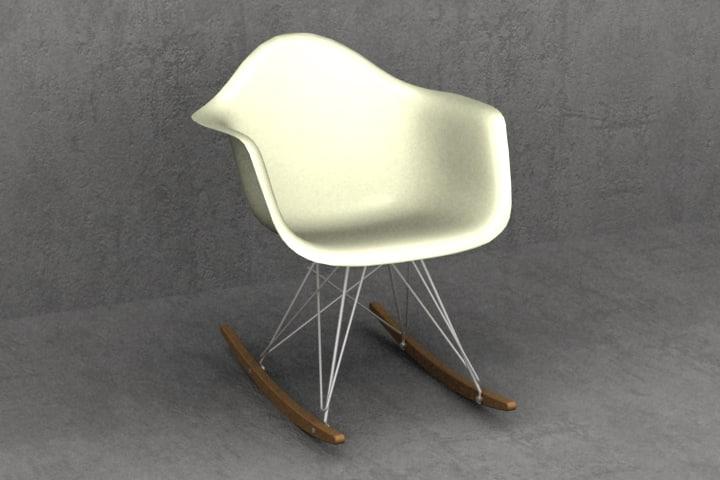 maya eames plastic chair rockers