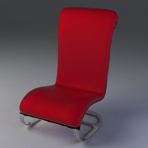 modern designer chair c4d